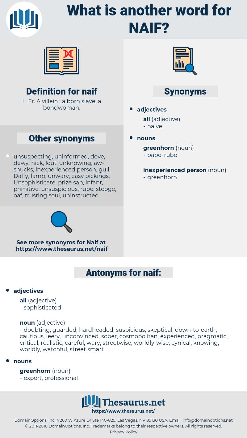 naif, synonym naif, another word for naif, words like naif, thesaurus naif