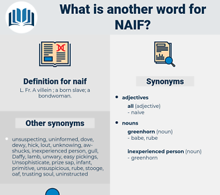 naif, synonym naif, another word for naif, words like naif, thesaurus naif