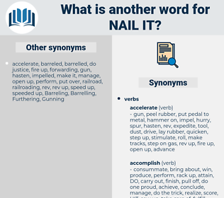 nail it, synonym nail it, another word for nail it, words like nail it, thesaurus nail it