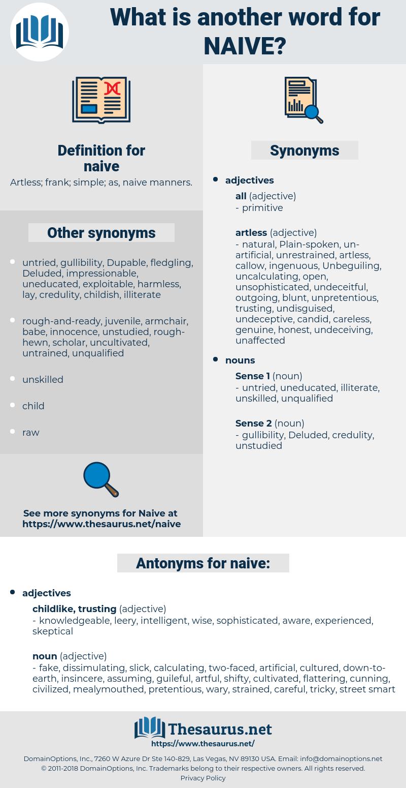 naive, synonym naive, another word for naive, words like naive, thesaurus naive
