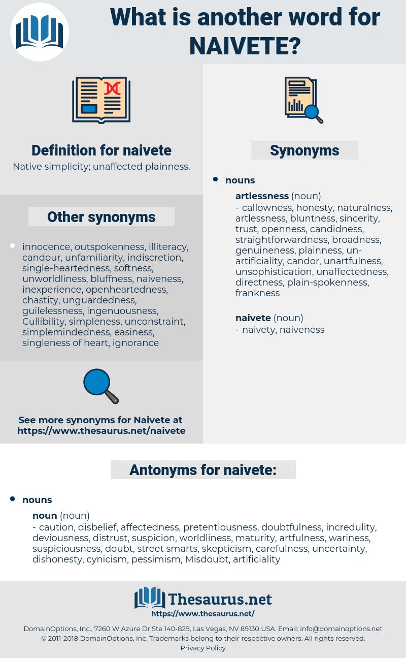 naivete, synonym naivete, another word for naivete, words like naivete, thesaurus naivete