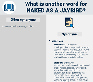 naked as a jaybird, synonym naked as a jaybird, another word for naked as a jaybird, words like naked as a jaybird, thesaurus naked as a jaybird