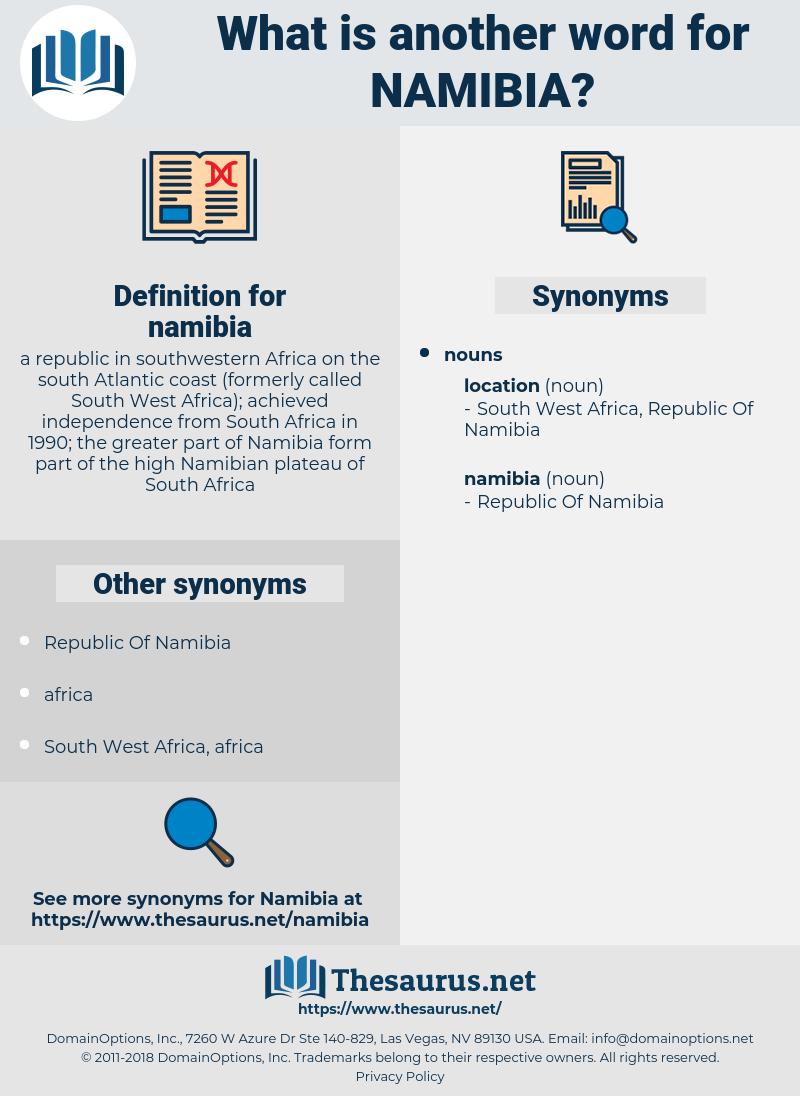 namibia, synonym namibia, another word for namibia, words like namibia, thesaurus namibia