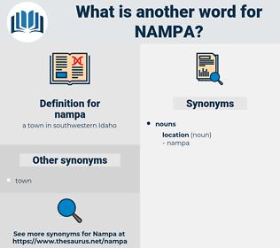 nampa, synonym nampa, another word for nampa, words like nampa, thesaurus nampa