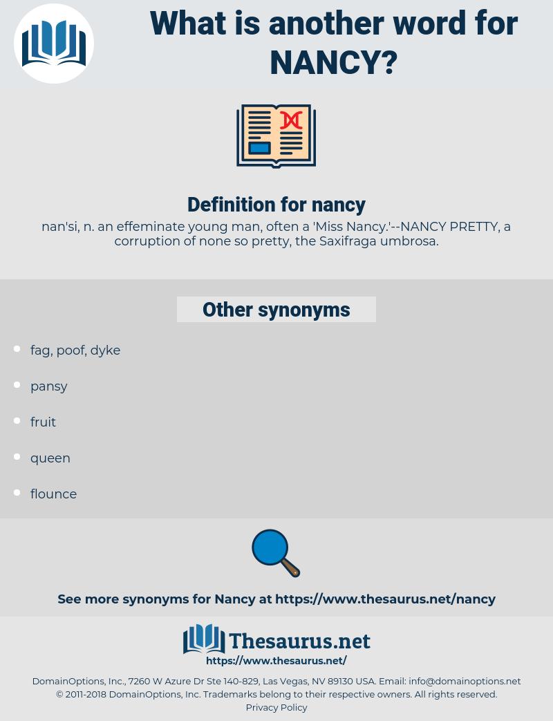 nancy, synonym nancy, another word for nancy, words like nancy, thesaurus nancy