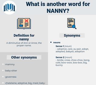nanny, synonym nanny, another word for nanny, words like nanny, thesaurus nanny