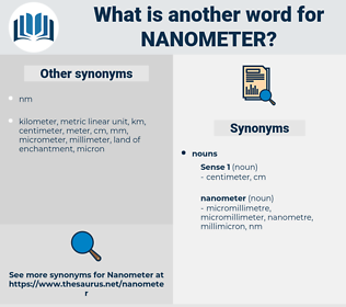 nanometer, synonym nanometer, another word for nanometer, words like nanometer, thesaurus nanometer
