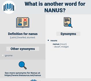 nanus, synonym nanus, another word for nanus, words like nanus, thesaurus nanus