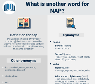 nap, synonym nap, another word for nap, words like nap, thesaurus nap
