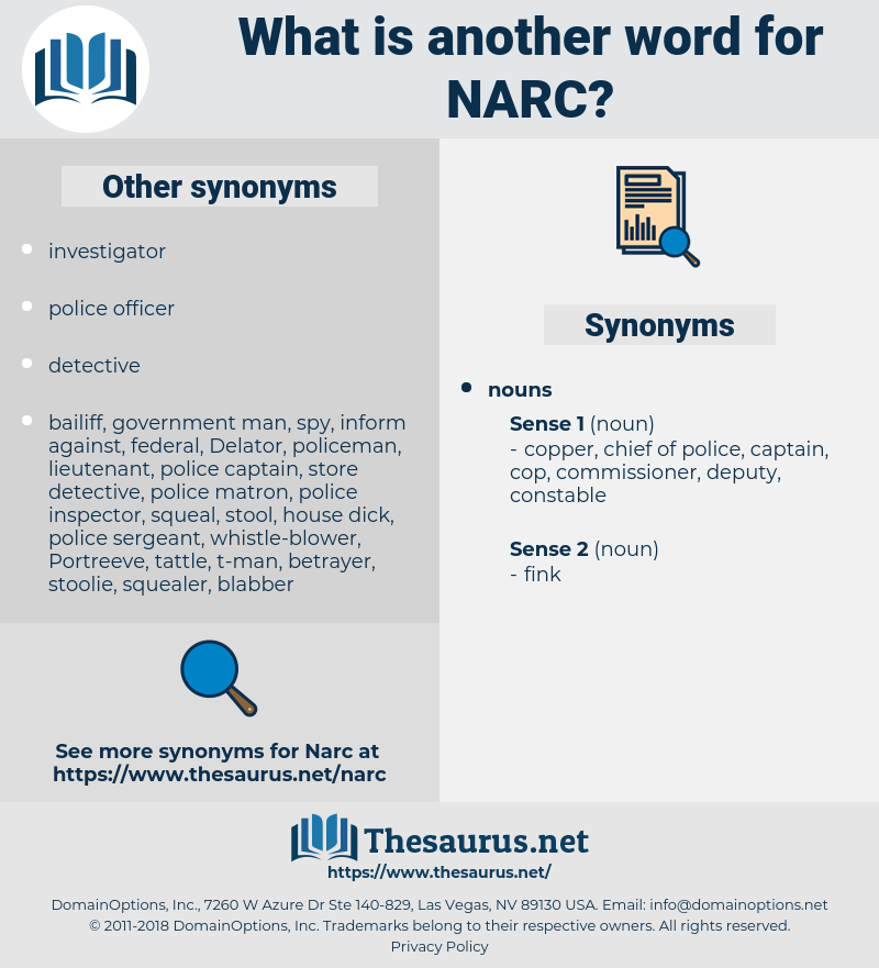 narc, synonym narc, another word for narc, words like narc, thesaurus narc