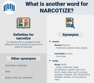 narcotize, synonym narcotize, another word for narcotize, words like narcotize, thesaurus narcotize
