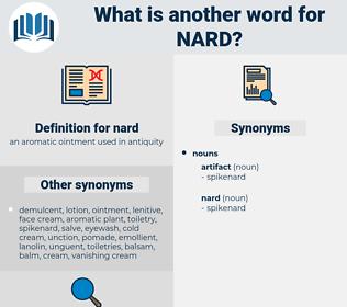 nard, synonym nard, another word for nard, words like nard, thesaurus nard