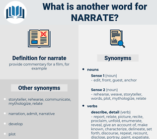 narrate, synonym narrate, another word for narrate, words like narrate, thesaurus narrate