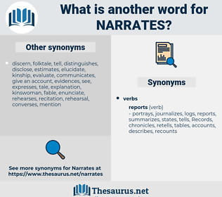 narrates, synonym narrates, another word for narrates, words like narrates, thesaurus narrates