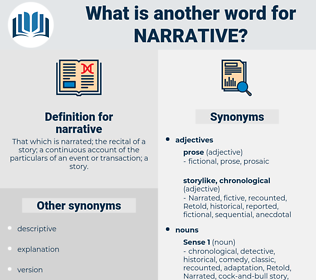 narrative, synonym narrative, another word for narrative, words like narrative, thesaurus narrative