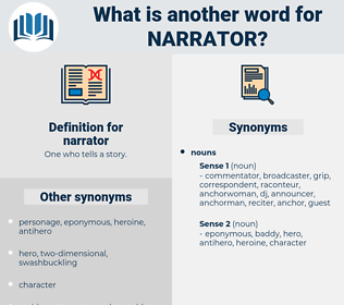 narrator, synonym narrator, another word for narrator, words like narrator, thesaurus narrator