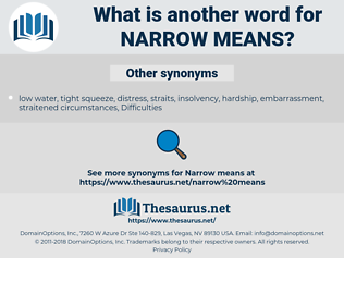 narrow means, synonym narrow means, another word for narrow means, words like narrow means, thesaurus narrow means
