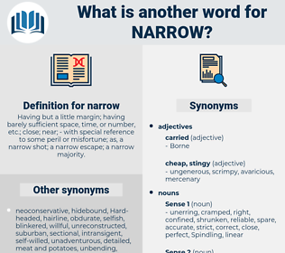 narrow, synonym narrow, another word for narrow, words like narrow, thesaurus narrow