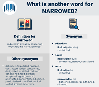 narrowed, synonym narrowed, another word for narrowed, words like narrowed, thesaurus narrowed