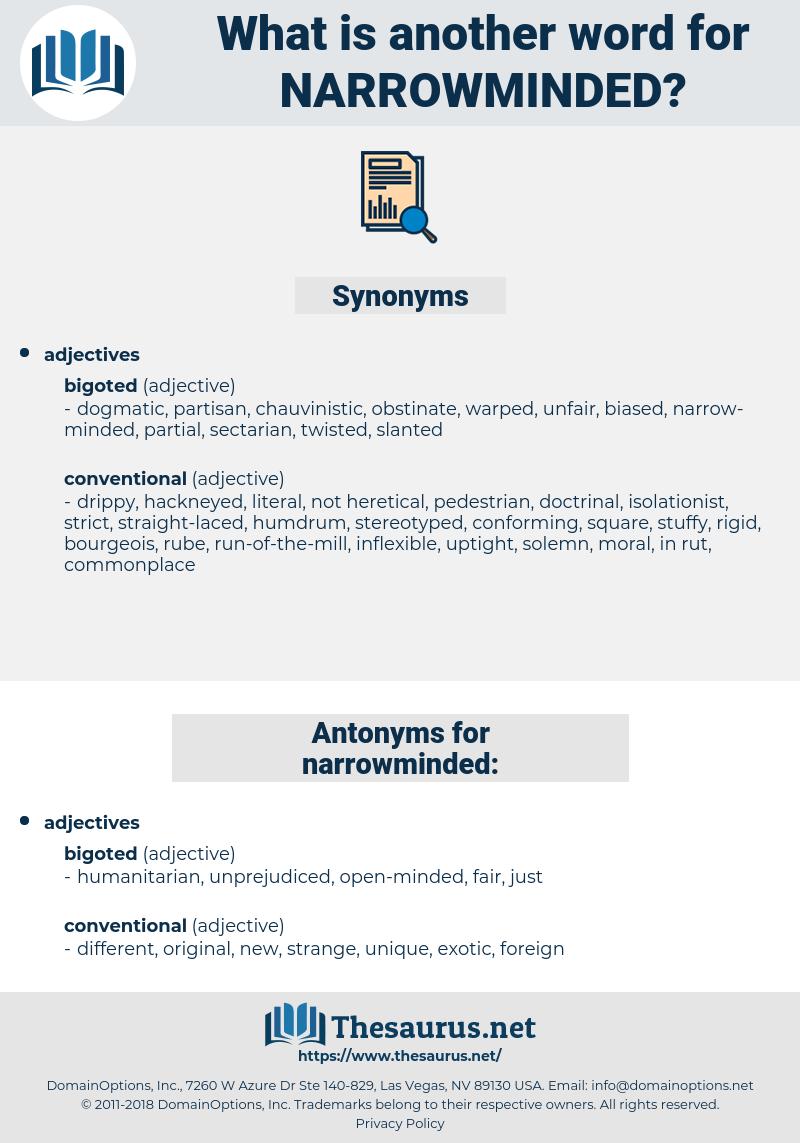 narrowminded, synonym narrowminded, another word for narrowminded, words like narrowminded, thesaurus narrowminded
