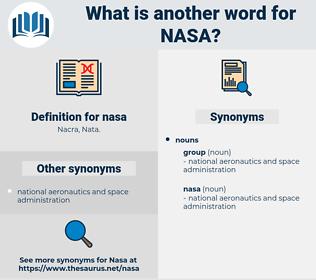 nasa, synonym nasa, another word for nasa, words like nasa, thesaurus nasa