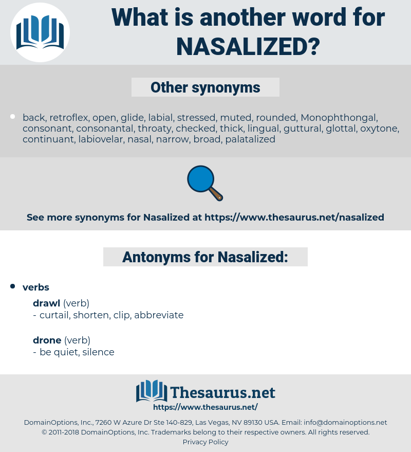 Nasalized, synonym Nasalized, another word for Nasalized, words like Nasalized, thesaurus Nasalized