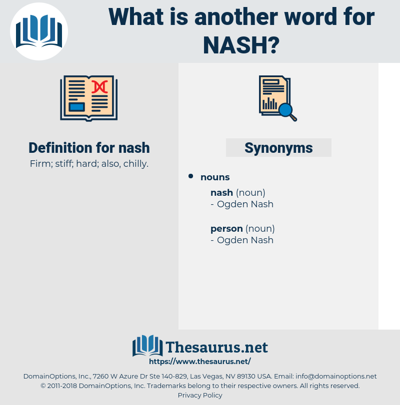 nash, synonym nash, another word for nash, words like nash, thesaurus nash