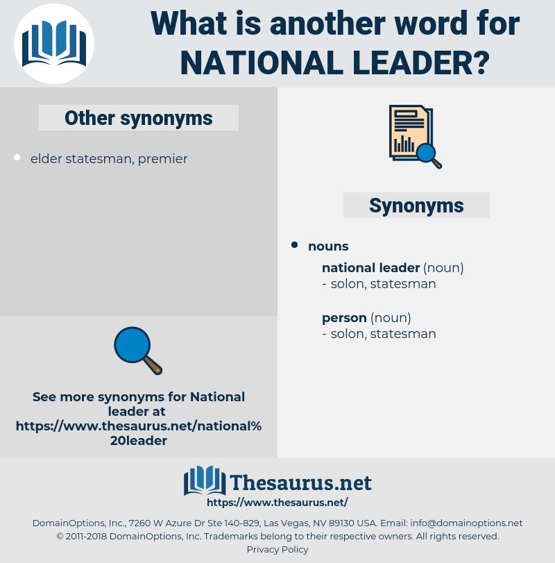 national leader, synonym national leader, another word for national leader, words like national leader, thesaurus national leader