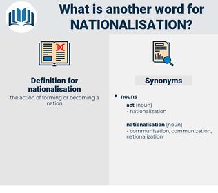 nationalisation, synonym nationalisation, another word for nationalisation, words like nationalisation, thesaurus nationalisation