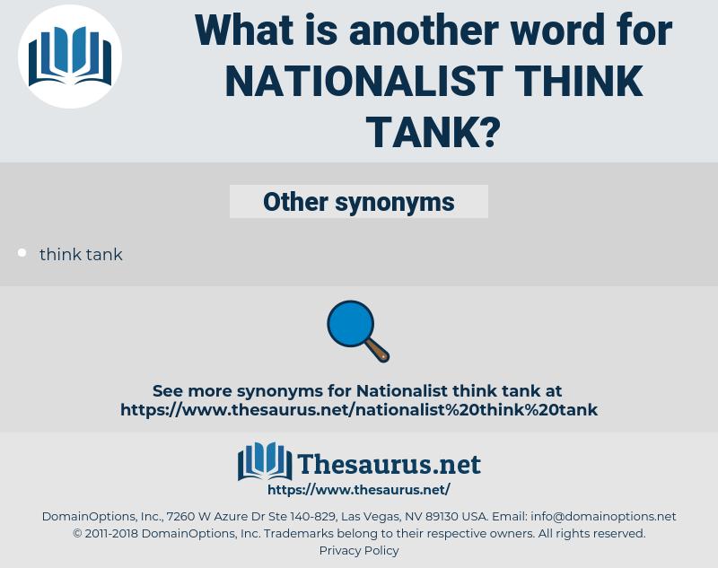 nationalist think tank, synonym nationalist think tank, another word for nationalist think tank, words like nationalist think tank, thesaurus nationalist think tank