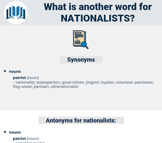 nationalists, synonym nationalists, another word for nationalists, words like nationalists, thesaurus nationalists