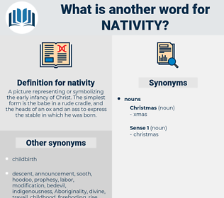 nativity, synonym nativity, another word for nativity, words like nativity, thesaurus nativity
