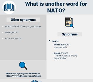nato, synonym nato, another word for nato, words like nato, thesaurus nato