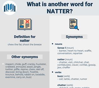 natter, synonym natter, another word for natter, words like natter, thesaurus natter