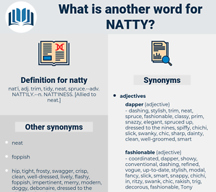 natty, synonym natty, another word for natty, words like natty, thesaurus natty