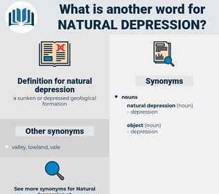 natural depression, synonym natural depression, another word for natural depression, words like natural depression, thesaurus natural depression