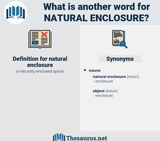natural enclosure, synonym natural enclosure, another word for natural enclosure, words like natural enclosure, thesaurus natural enclosure