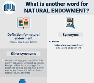 natural endowment, synonym natural endowment, another word for natural endowment, words like natural endowment, thesaurus natural endowment
