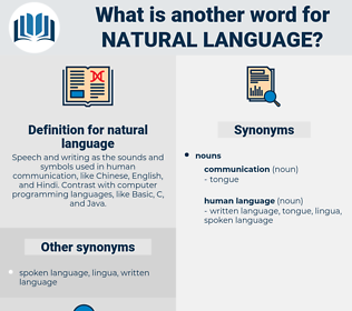 natural language, synonym natural language, another word for natural language, words like natural language, thesaurus natural language