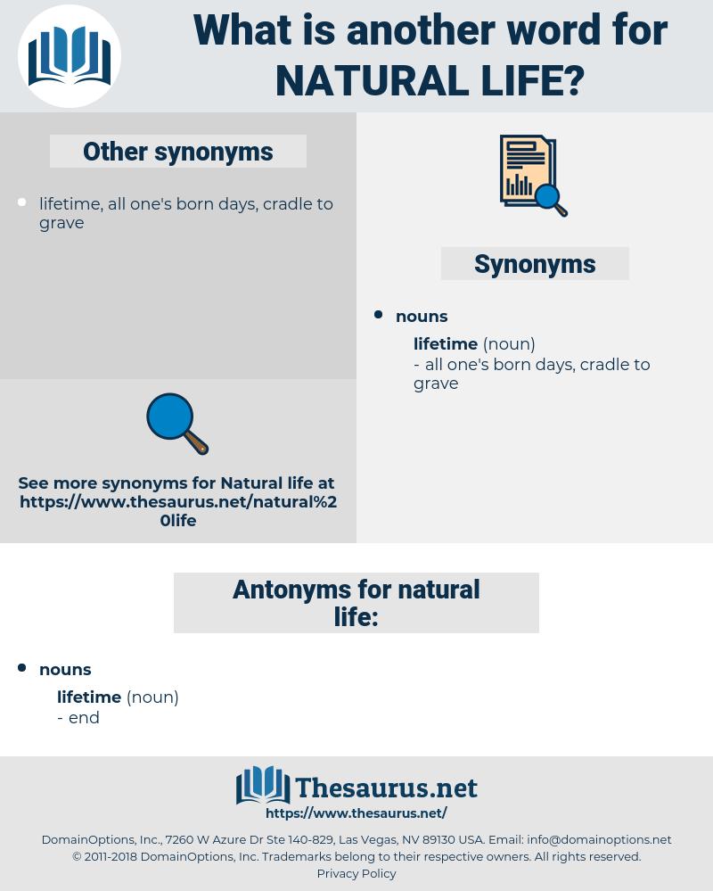 natural life, synonym natural life, another word for natural life, words like natural life, thesaurus natural life