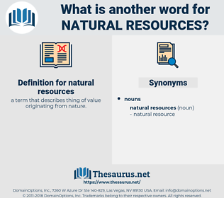 natural resources, synonym natural resources, another word for natural resources, words like natural resources, thesaurus natural resources