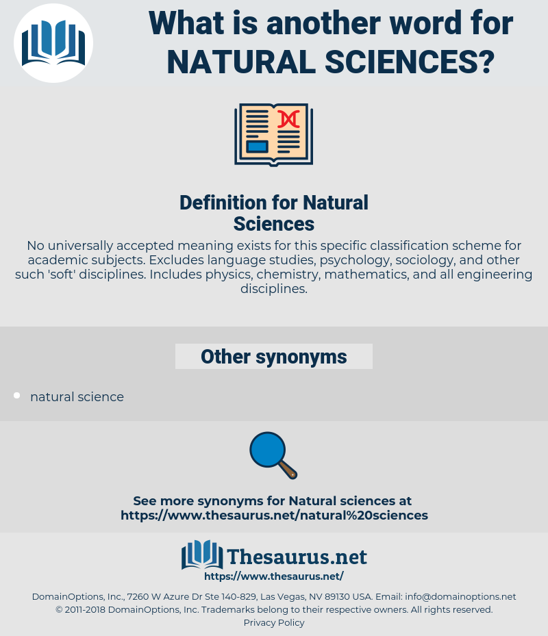 Natural Sciences, synonym Natural Sciences, another word for Natural Sciences, words like Natural Sciences, thesaurus Natural Sciences