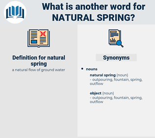 natural spring, synonym natural spring, another word for natural spring, words like natural spring, thesaurus natural spring