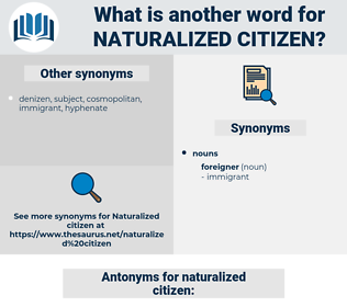 naturalized citizen, synonym naturalized citizen, another word for naturalized citizen, words like naturalized citizen, thesaurus naturalized citizen