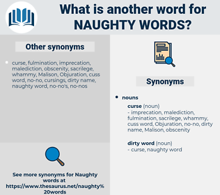 naughty words, synonym naughty words, another word for naughty words, words like naughty words, thesaurus naughty words
