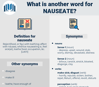 nauseate, synonym nauseate, another word for nauseate, words like nauseate, thesaurus nauseate