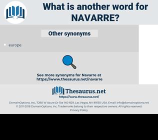Navarre, synonym Navarre, another word for Navarre, words like Navarre, thesaurus Navarre