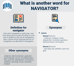 navigator, synonym navigator, another word for navigator, words like navigator, thesaurus navigator