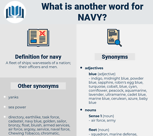 navy, synonym navy, another word for navy, words like navy, thesaurus navy