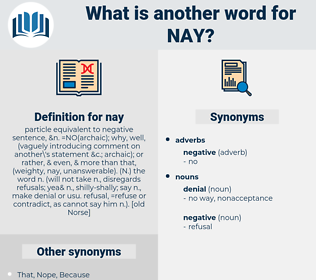 nay, synonym nay, another word for nay, words like nay, thesaurus nay